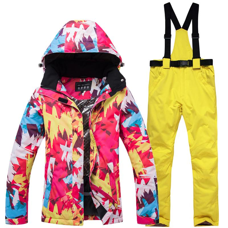 2019 Winter Ski Suit Women Brands 2018 Ski Jacket And Pants Snow Warm  Waterproof Windproof Skiing And Snowboarding Suits From Onecherry 497987dfe