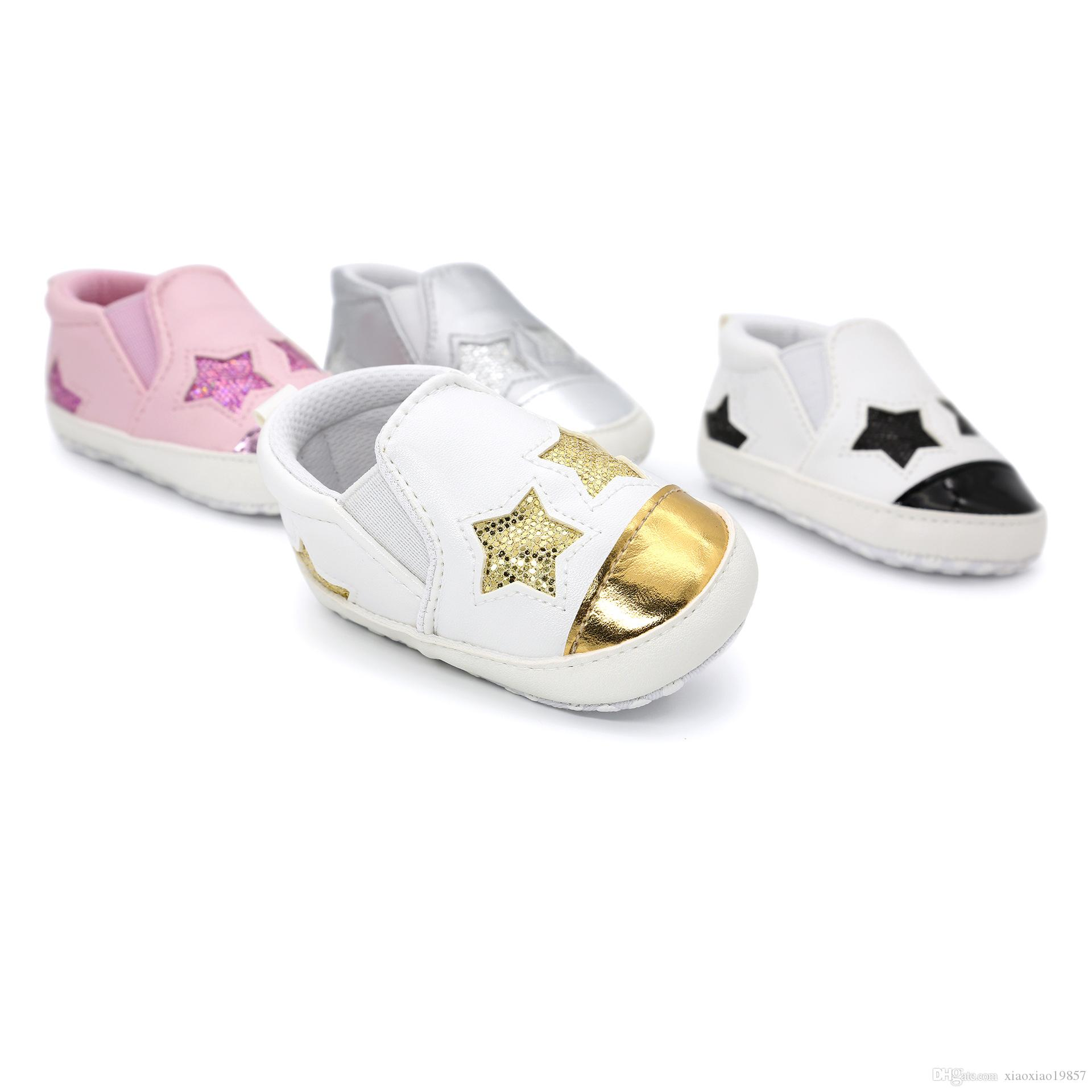 New Fashion Star Baby Shoes Newborn Boys Girls First Walkers Infant ... 71b4755014eb