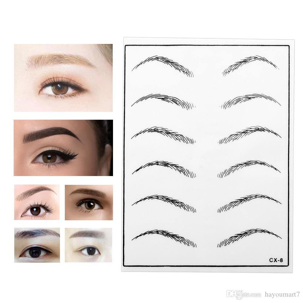 5pcs Permanent Makeup Eyebrow Practice Skin For Beginners Excellent  Cosmetic Supply for Silicone Permanent Makeup Cosmetic Tattoo Tool