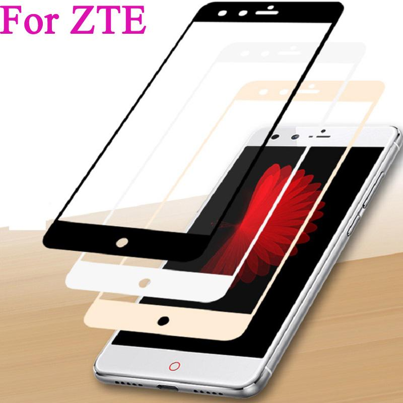 watch a1c9e d3bbd Full Cover Tempered Glass For ZTE Nubia Z11 mini S Z981 A2 PLUS V8 M2 LITE  Z17 MINI Screen Protector Toughened Film Colorful