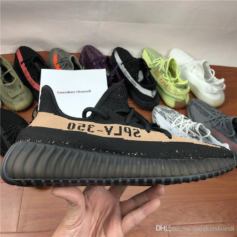 350 V2 B37572 Semi Frozen Yellow B37572 Blue Tint Grey AH2203 Beluga 2.0 Grey,man casual kanye west running shoes