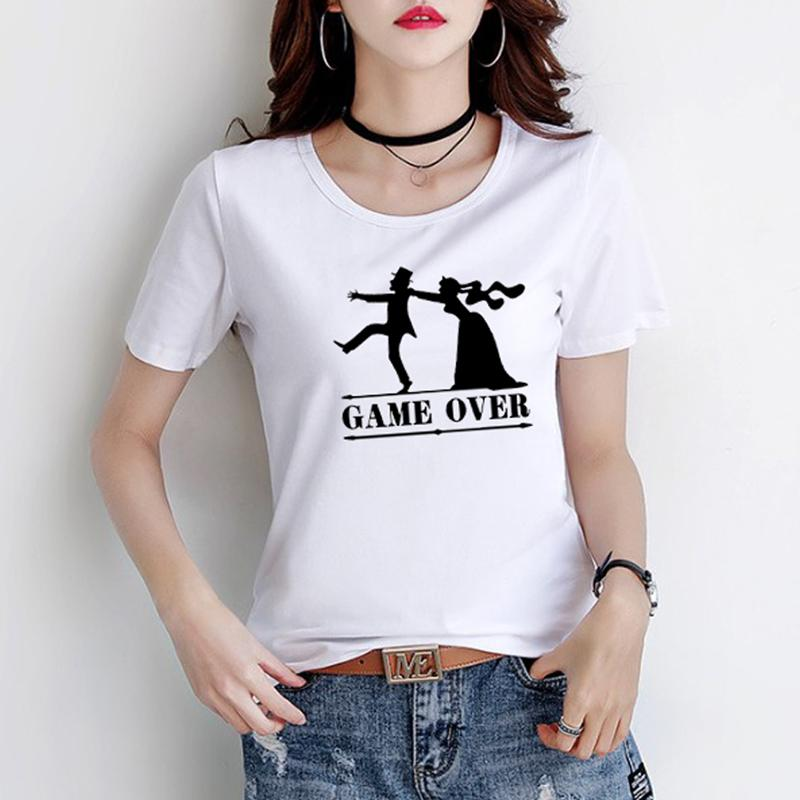 Cfung Women Tshirts Game Over Fiancee Personalised T Shirt Top Just