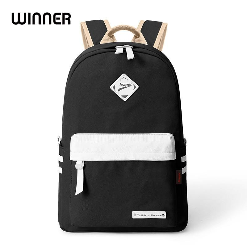 Preppy Style Fashion Women Canvas Solid School Bag Brand Travel Black  Backpack For Girls Teenagers Stylish Laptop Bag Rucksack Backpack Handbags  From ... 11a74ad05f776