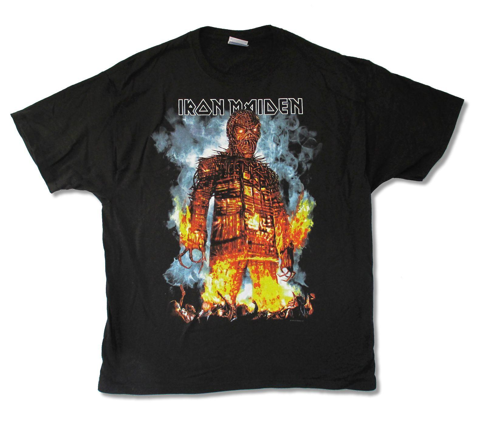 3c4a0031 Iron Maiden Wicker Man 2010 N.A. Tour Mens Black T Shirt New Official Merch  Online with $12.99/Piece on Geckotees's Store | DHgate.com