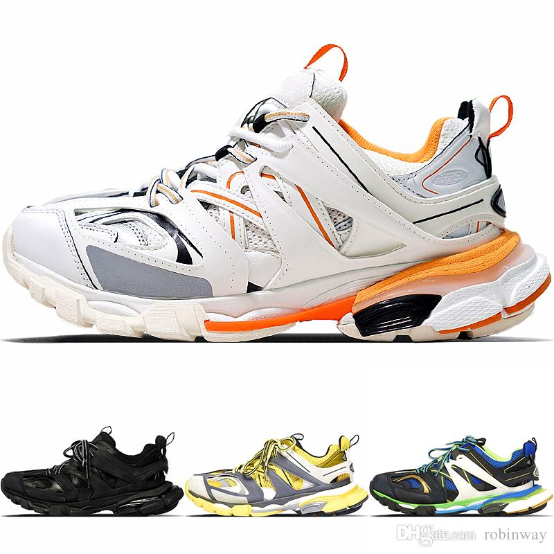 a2cc810330f6 New Fashion Triple S Track Trainers Men Sports Running Shoes Designer  Clunky Sneaker Black Orange Women Walking Luxury Paris Dirty Dad Shoes Mens  Running ...