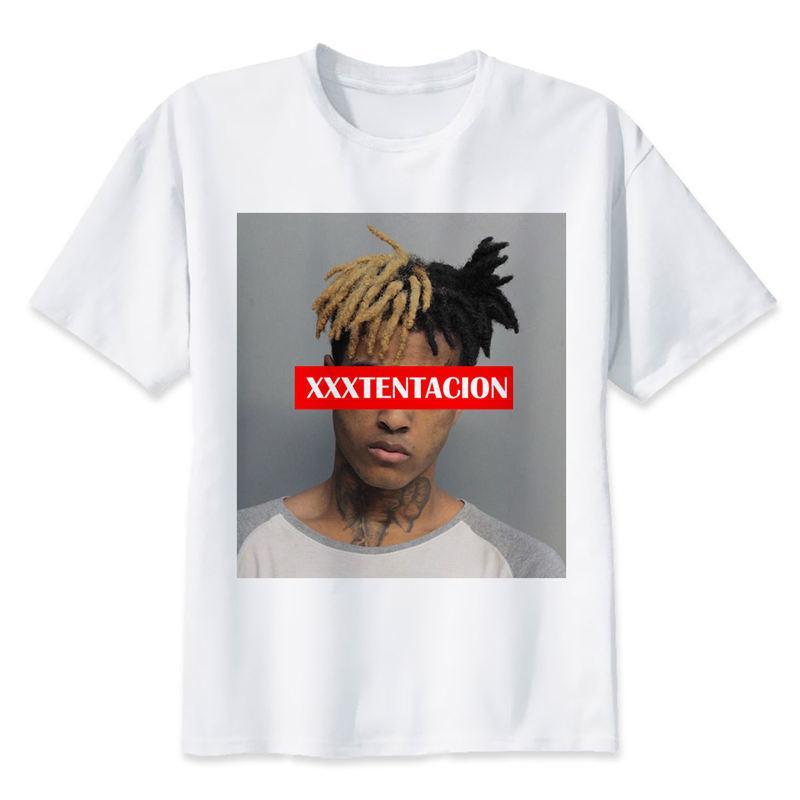 bdf79ee9af3545 Großhandel Xxxtentacion T Shirt Mannt Shirt Art Und Weiset Shirt O Ansatz  Weiße T Shirts Für Mann Spitzen T Stücke M8166 Von Felix06