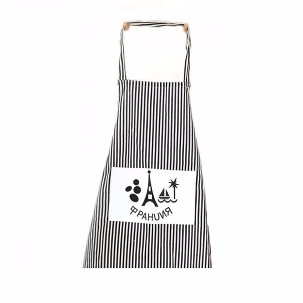 Oil Anti New Long Sleeve Adult Cotton Apron Anti Dressing Fashionable And Lovely Home Work Clothes The Kitchen Apron 100% Original