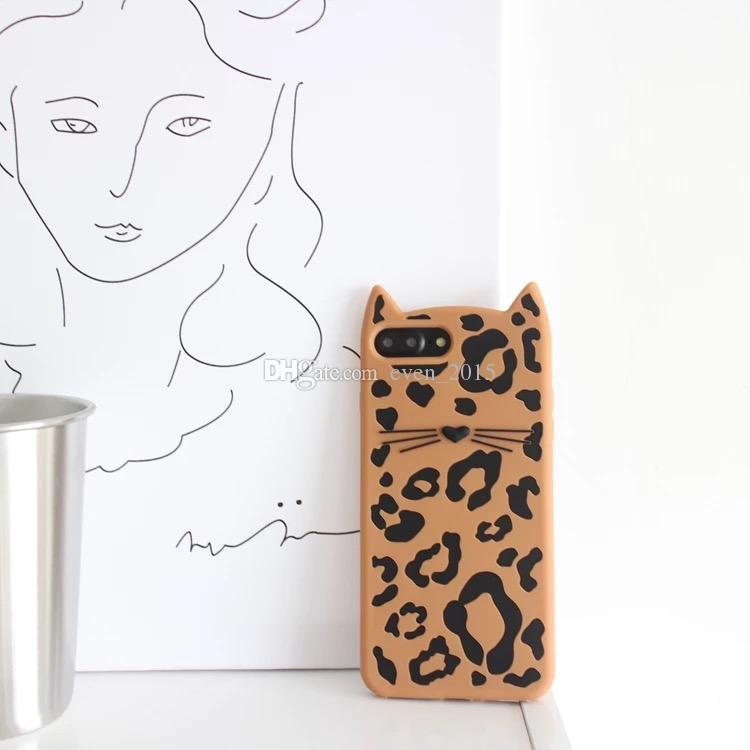 3d dos desenhos animados kitty soft silicone phone case para iphone 5s 5se animal bigodes gato leopardo para apple 6 6 s 7 8 plus casos