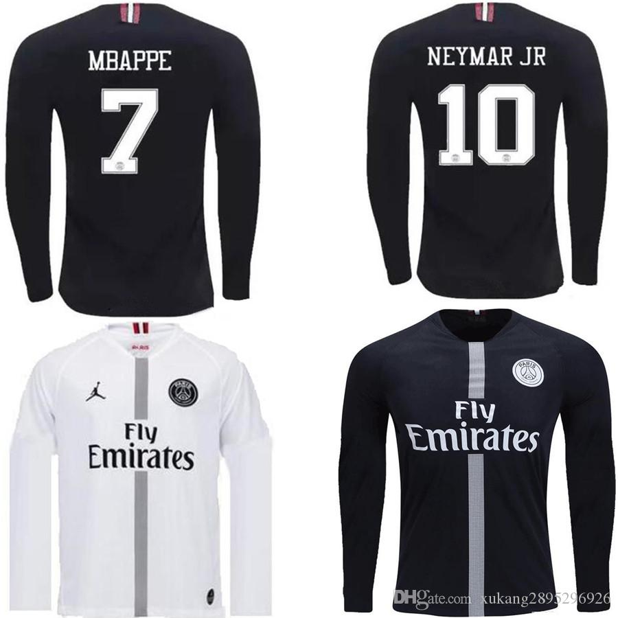 0c369e648 2019 2018 2019 PSG Paris Saint Germain DI MARIA CAVANI Soccer Jerseys  VERRATTI MBAPPE LASS DRAXLER PASTORE 18 19 Long Sleeve Football Shirt From  ...