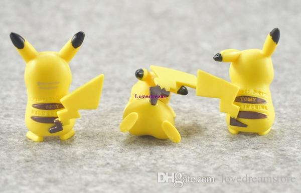 6 teile / satz Hohe qualität PVC Pikachu action figure spielzeug Monster puppe ornamente spielzeug Geschenke Telefon Zubehör