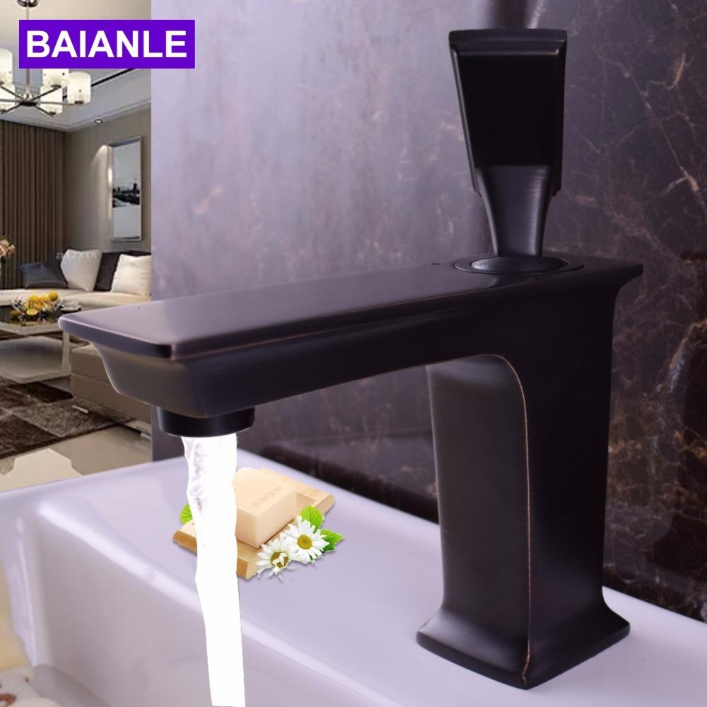 2018 Decoration Black Basin Faucet Ceramic Valve Basin Mixer For ...
