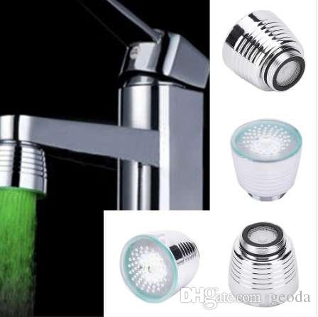 Colorful Led Water Lights Colorful Changing Glow Shower Head Kitchen Tap For Kitchen Bathroom Products 2019 Official Bathroom Fixtures