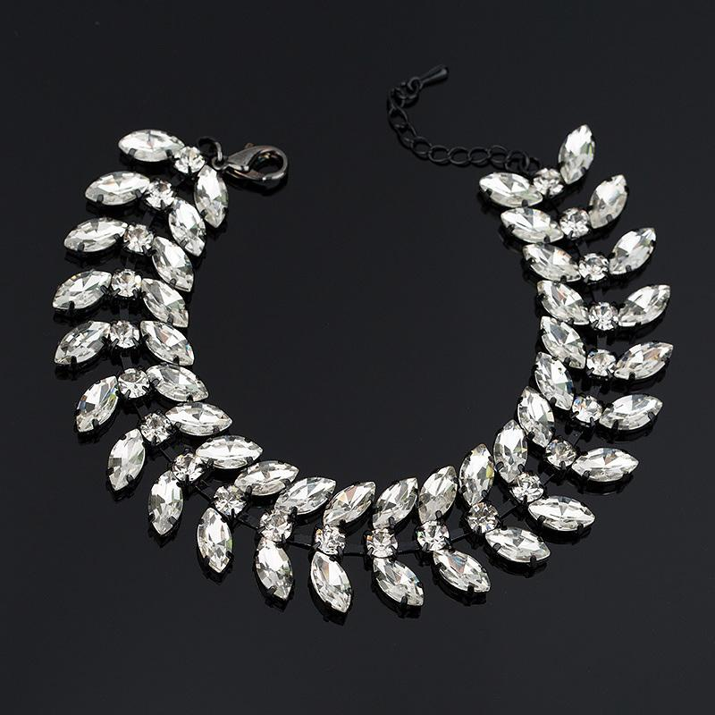 New arrived eyes Crystal Bracelets with Stones chain bracelet bride angel wing for women gifts accessories B041