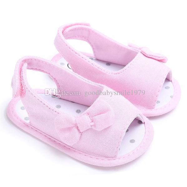 Fashion cute infant girls shoes beautiful summer girl baby bowknot sandals newborn infant casual outdoor princess crib shoes