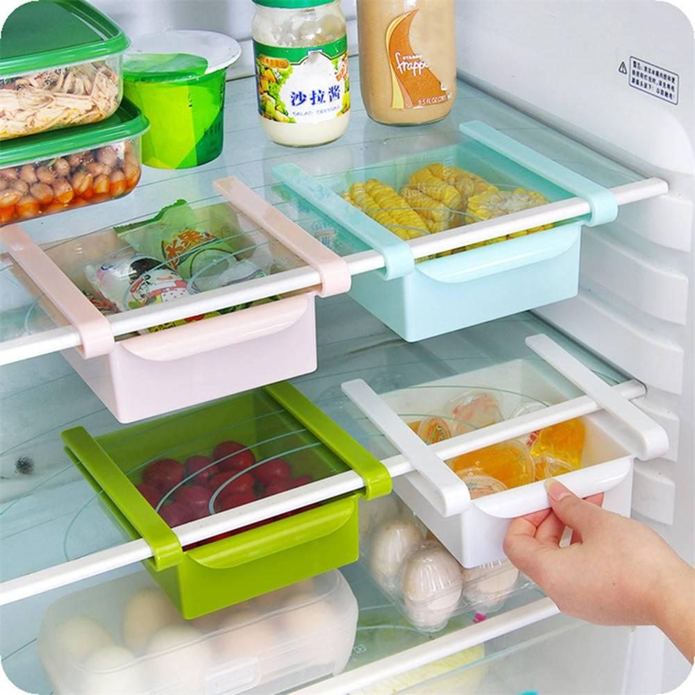 9ef689c4c1c Plastic Kitchen Refrigerator Storage Rack Fridge Freezer Shelf ...