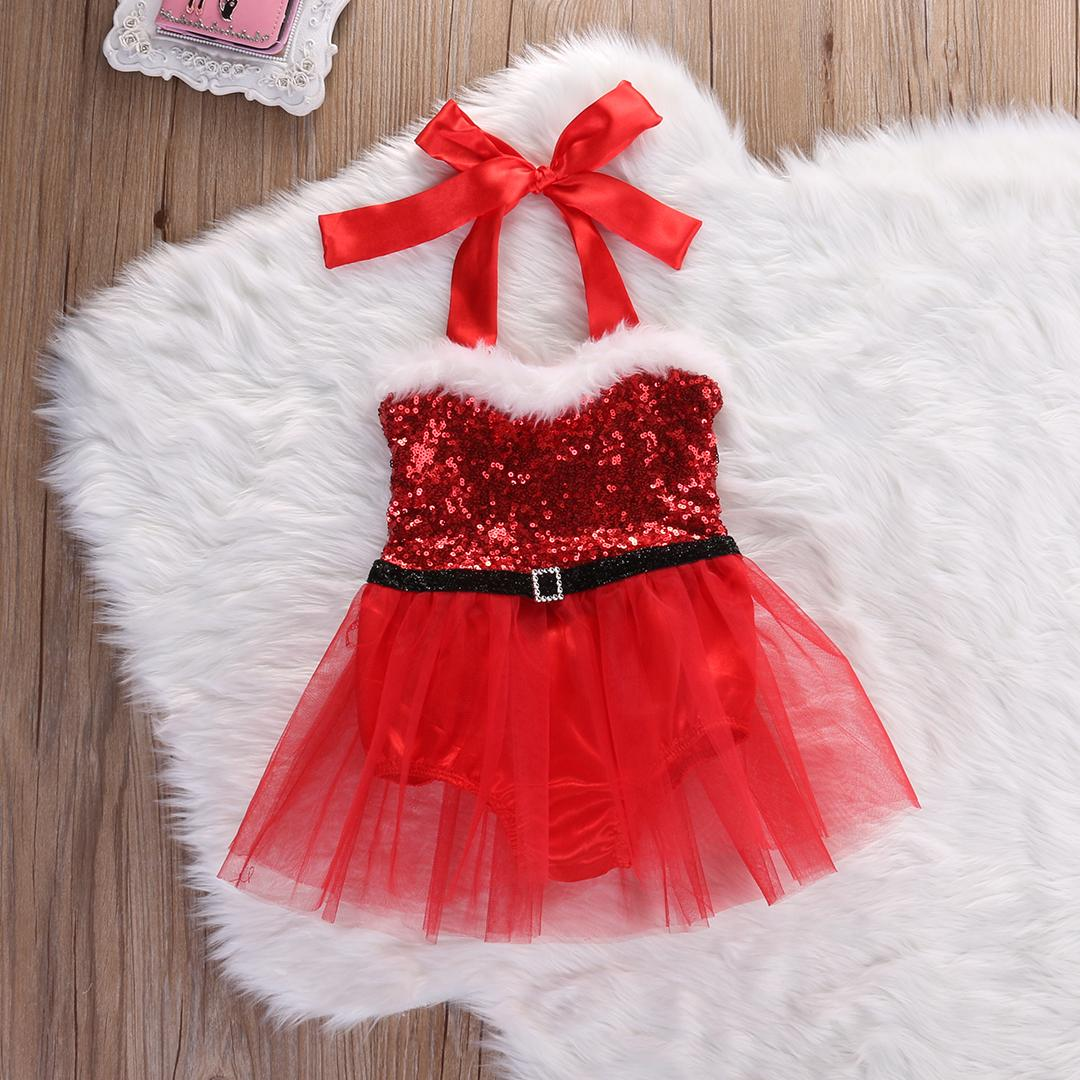 d0821e54e 2019 Christmas Newborn Infant Baby Girls Rompers Jumpsuit Santa Tutu Lace Dress  XMAS Outfits Costume From Henryk, $32.89 | DHgate.Com