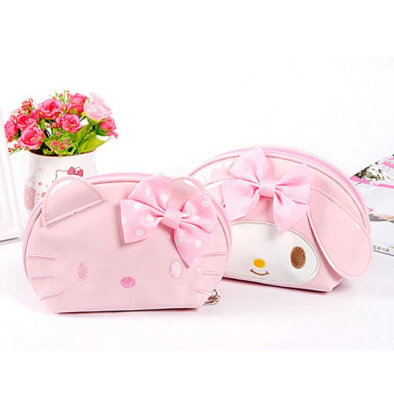 81ca99f6b3 2019 Cartoon Hello Kitty Cosmetic Bag Women Travel PU Leather Zipper Makeup  Bag Organizer Make Up Case Storage Pouch Toiletry From Fenxin