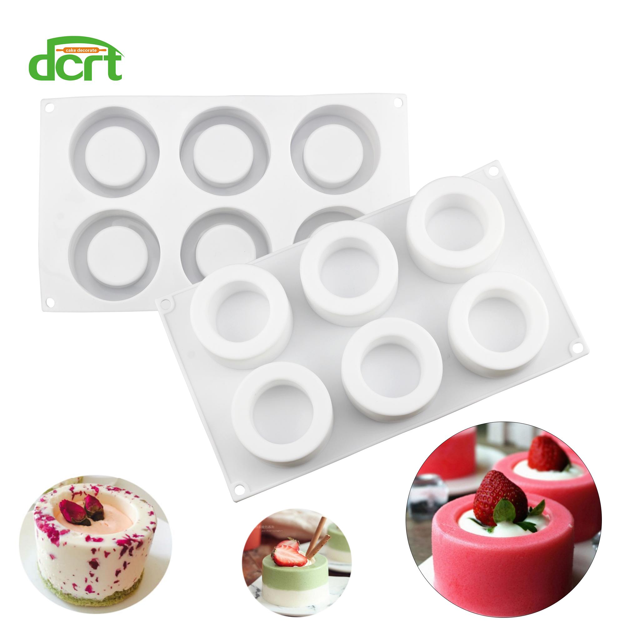 Grosshandel Dcrt 6 Locher Pudding Tasse Form Silikonform 3d