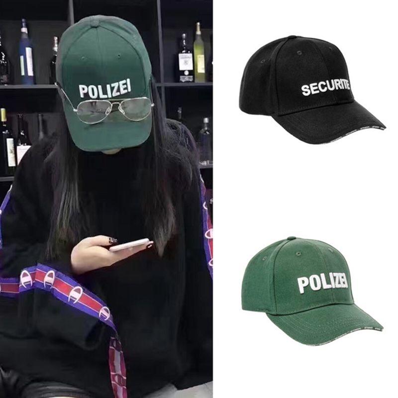 821ce09650d95c Security Embroidery Vetements Baseball Caps Men Newest Fashion Green Hats  Hip Hop Streetwear Snapback Cap Women Summer Sun Hats Customized Hats  Custom Hat ...
