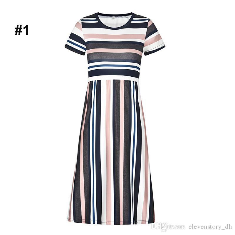 a6c5bcf5a 2019 1 To 8 Years Baby Girls Summer Striped Colourful Dresses ...