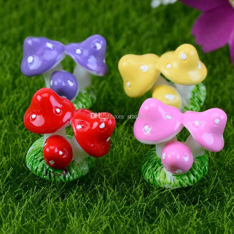 Micro Paesaggio Decorazioni da Giardino Mini House Cottage Ape Insetti Fungo Coniglio Piante In Vaso Artigianale In Miniatura Fata Giocattoli Da Giardino WX9-588