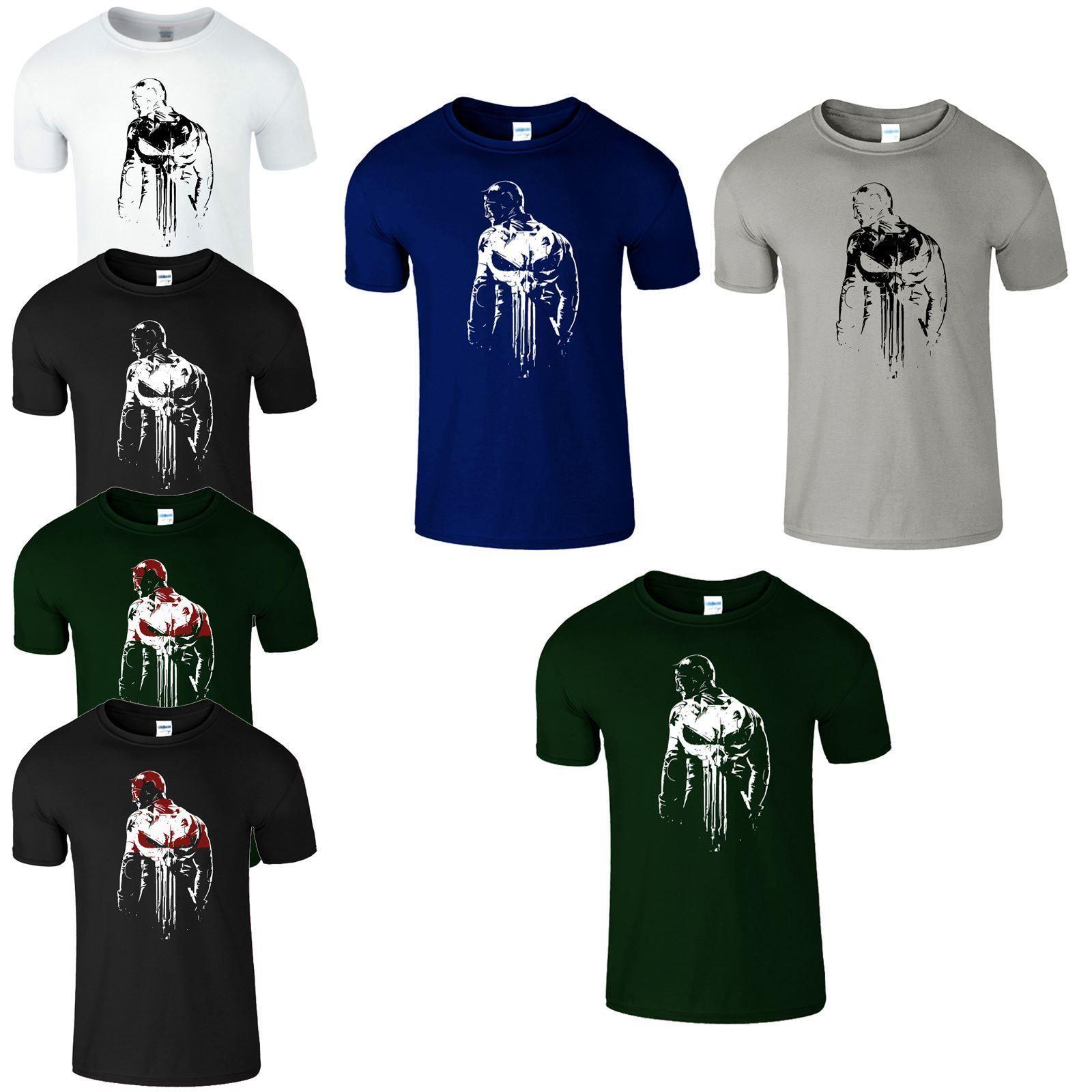 96e1f0352 Daredevil Punisher Mens T Shirt Marvel Bodybuilding Skull Gym Gamer Top TShirt  Cool Casual Pride T Shirt T Shirts Shop Online Of T Shirts From  Designtshirts ...