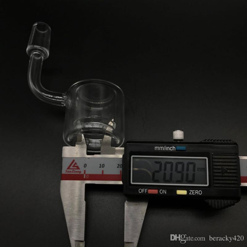 DHL Free!! Beracky New XXXL 35mm OD Quartz Thermal Banger Nail 10mm 14mm 18mm Double Tube Thermal Banger For Oil Rig Glass Bongs