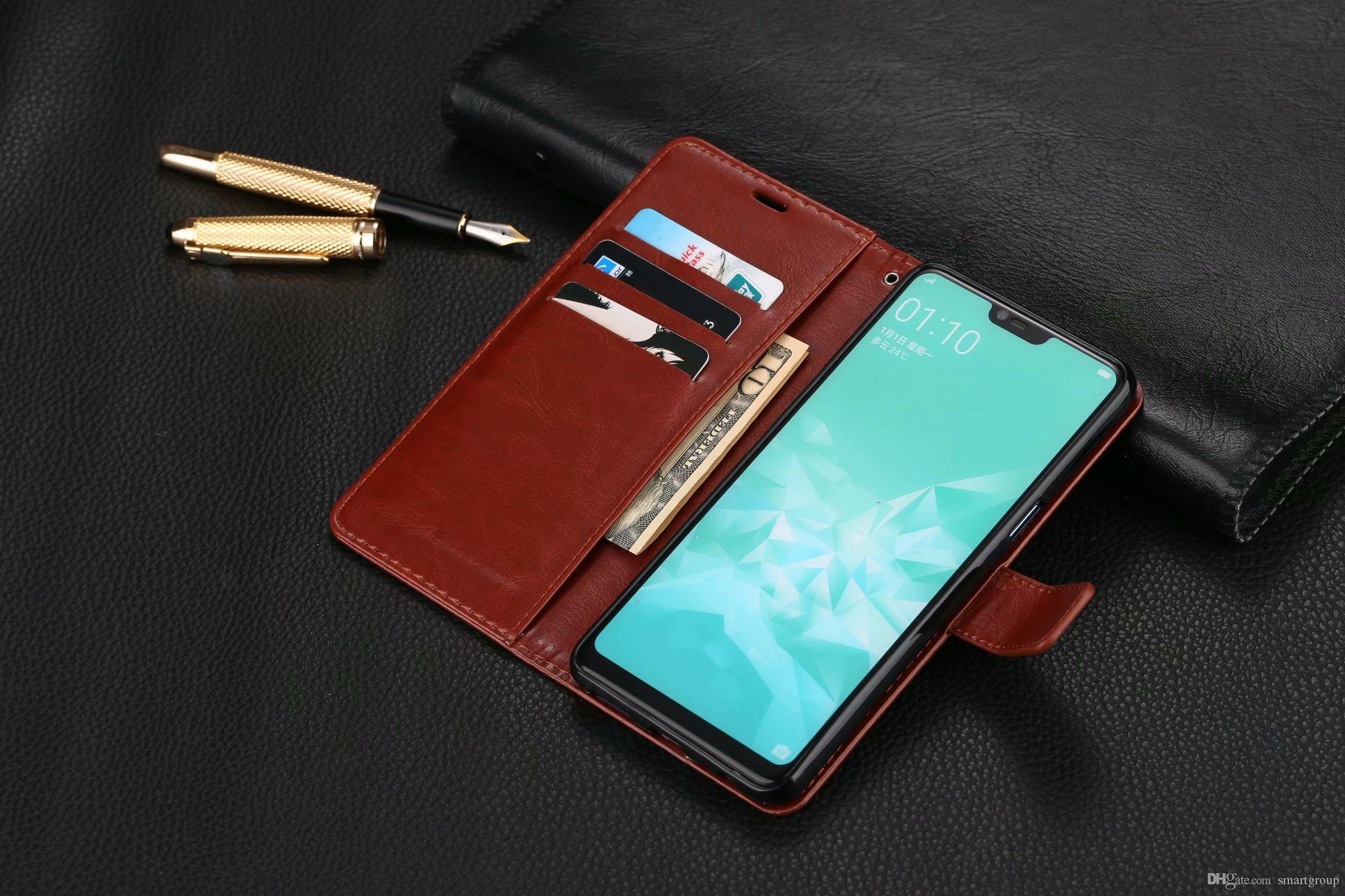 check out eb208 17eee For Oppo A3 Case Purse Clip Flip Cover Luxury Hot Original Stand Leather  Case For OPPO A3