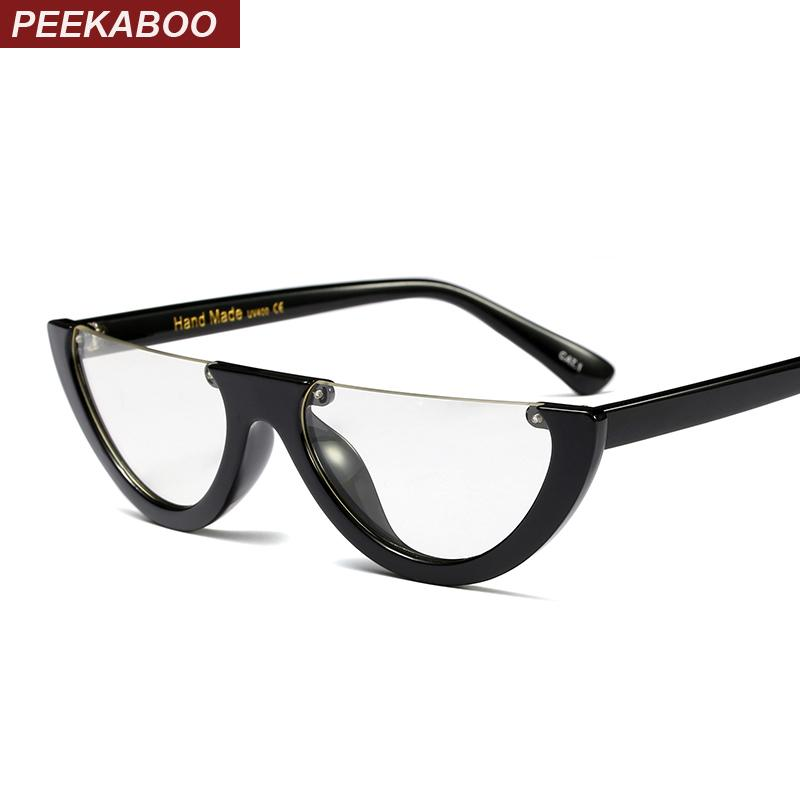 2018 Peekaboo Black Vintage Cat Eye Glasses Frame Clear Fashion Flat ...