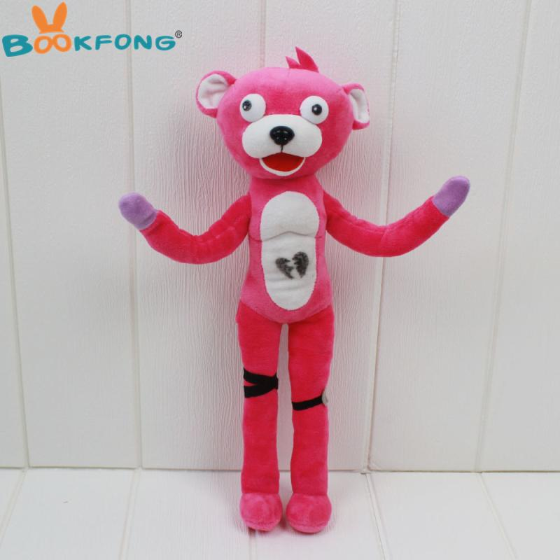 2019 fortnite cuddle team leader pink bear plush toys lovely game