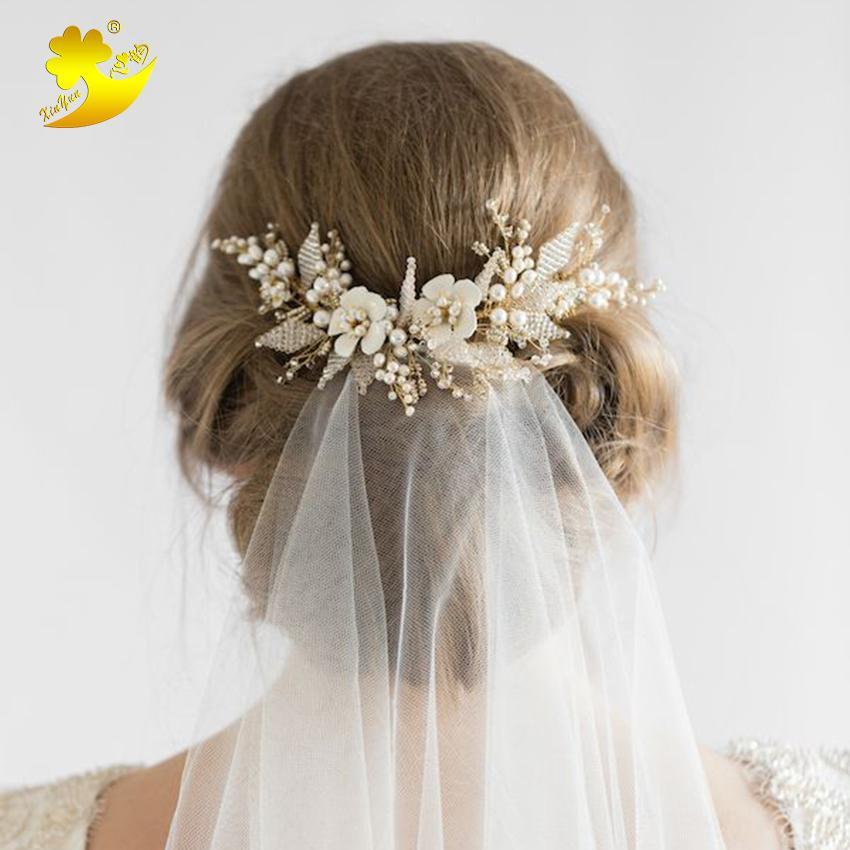 Grosshandel Xinyun Hochzeit Haar Hochsteckfrisur Mit Schleier Weisse