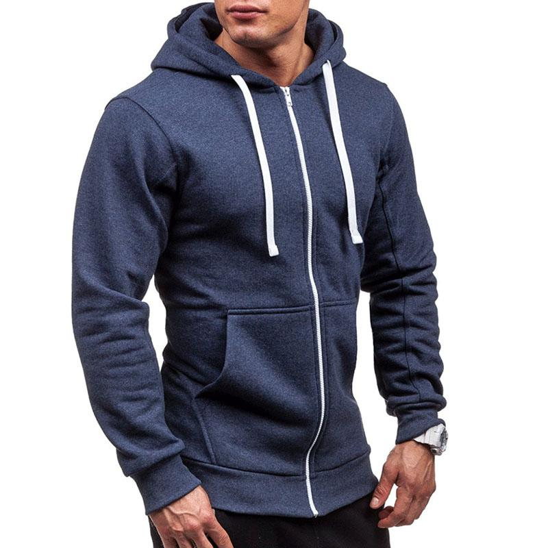 b2261919b5e 2019 Winter Mens Zip Up Hoodie Casual Cotton Long Sleeve Sweatshirt From  Sweatcloth