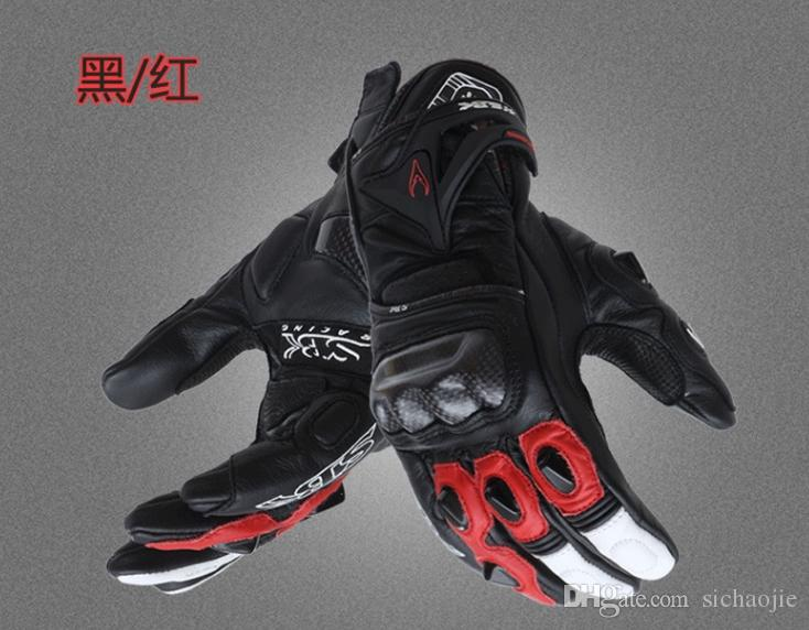 2018 new summer Breathable Carbon fiber leather motorcycle gloves/ racing gloves/ motocross riding gloves/ Sports Gloves 3 colors ST-10