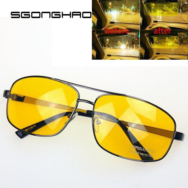 b2f6892e6fe Brand Driver Driving HD High Definition Night Vision Sunglasses Yellow Lens  Designer Glasses Sunglasses Uk From Hermane