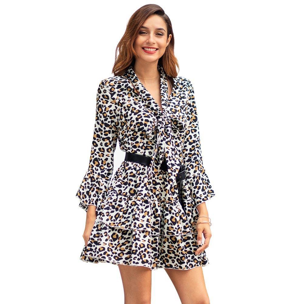 1d19b7f6fca7f Acquista Vestito Abito 2019 Primavera Xia Xinkuan Manica Lunga Risvolto  Abito Autoproduzione Moda Abiti Casual Donna Abbigliamento Donna Speciale  Vendita A ...