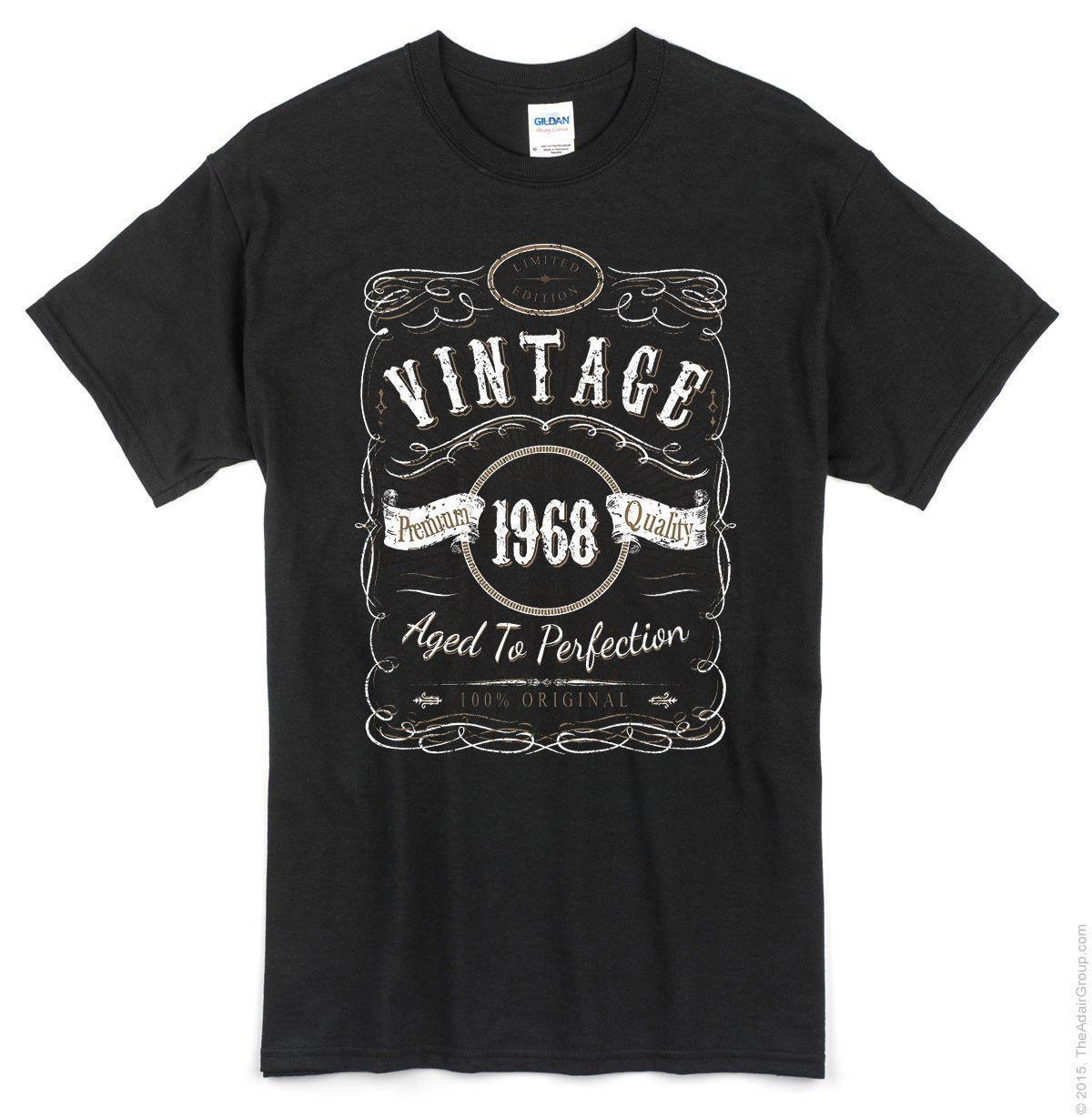 50th Birthday Vintage 1968 T Shirt Black Funny Bday Gift Party Designs Make A Tee From Lijian046 1208