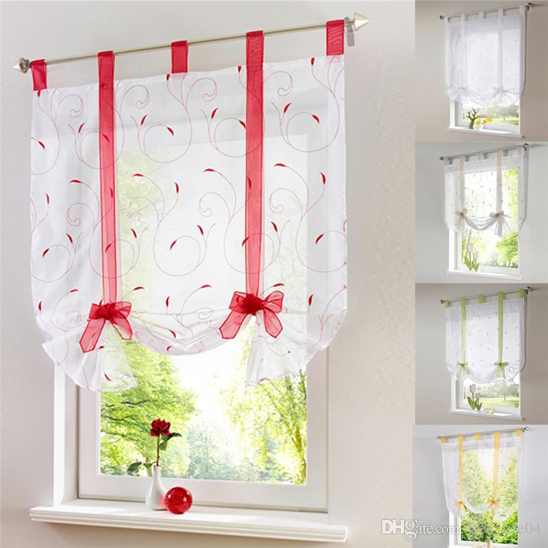 Curtains Roman Kitchen Curtains Floral Blinds Short: 2018 Vertical Blind Tulled Curtains Jacquard Roman Blinds