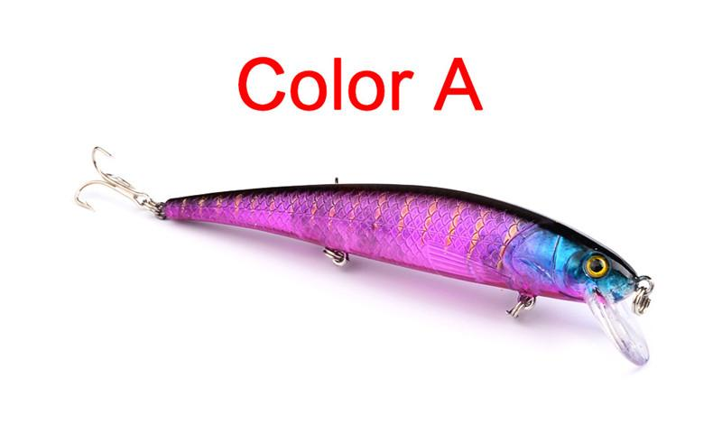 High Quanlity Plastic Artificial Bass swimbaits Fishing Lure 12.5cm 17g Freshwater Crankbaits Minnow Casting Bait Fishing Tackle