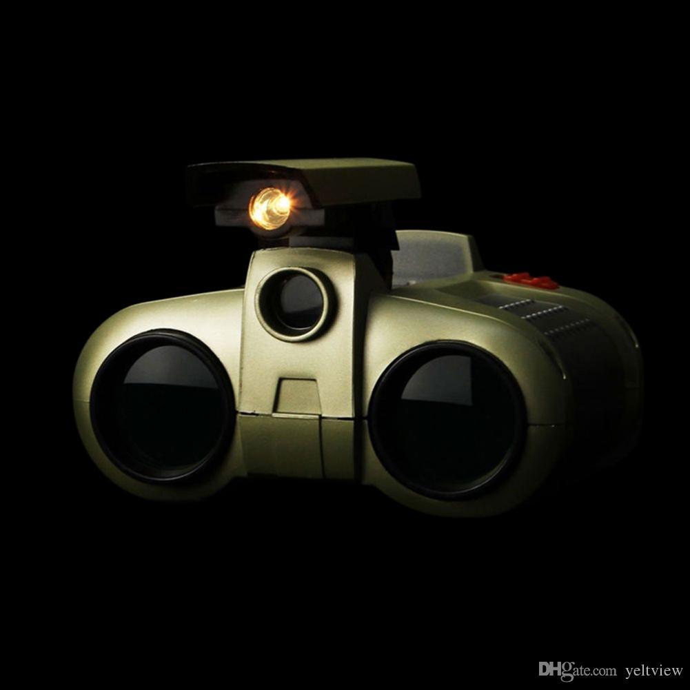 4x30 Çocuk Dürbün Gece Görüş Teleskop Pop-up Işık Gece Görüş Kapsam Dürbün 3 Yaşında Çocuk Erkek Oyuncaklar için Yenilik Yenilik Hediyeler