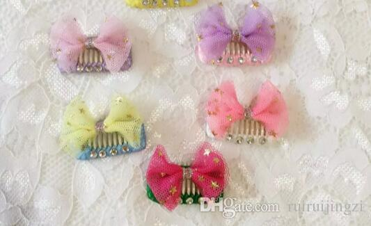 Dog Grooming Wedding Hair Accessories Pet dog bb clip dog square teddy Yorkshire hair clip bangs pin comb clip