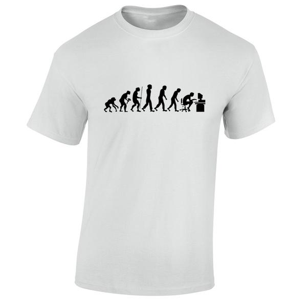 Evolution Of Geek T Shirt Mens Funny Computer Science Gamer Present