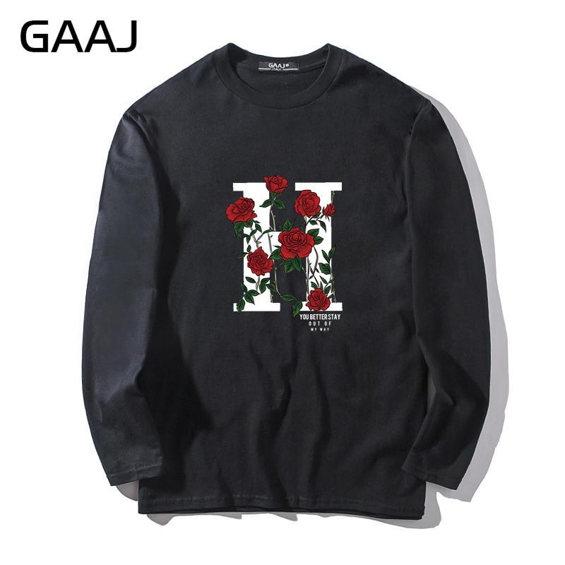 73e9451b254cb9 Großhandel T Shirt Männer Rote Rose Blume H Print Brief Herren Streetwear  Mann Frauen Unisex Langarm Homme Lustige Marke Hohe Qualität Von Cagney, ...