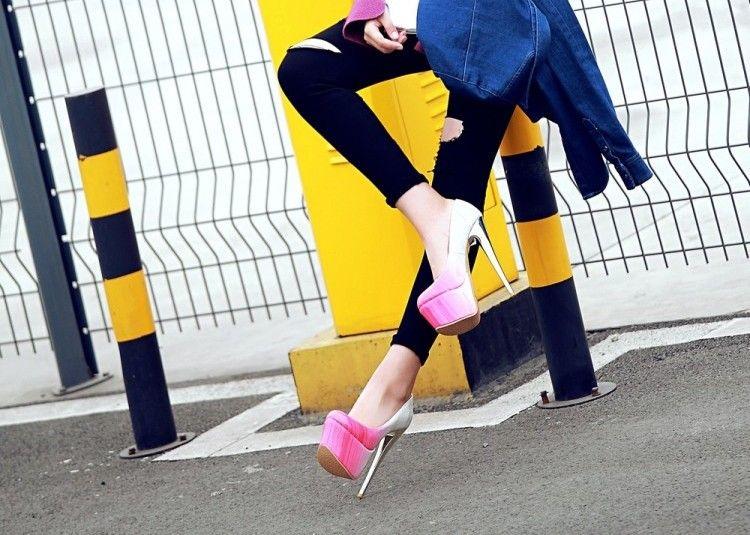 Новый европейский высокий каблук женская обувь борьба светлый цвет рот круглый набор ног один обувь личность мода сандалии