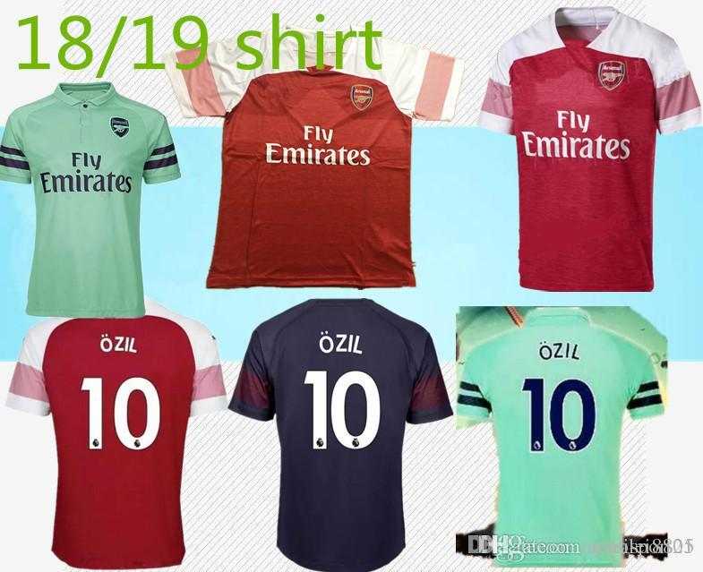 ead94851b9a 2019 Arsenal Soccer Jersey 2018 19 New Gunners Armory Adult ALEXIS WALCOTT  CHAMBERS Soccer Jersey 18 19 Football Jersey Shirts From Xiaolei8825