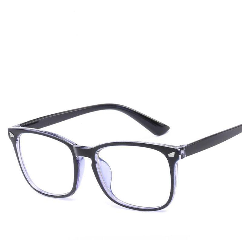 Compre 2018 Moda Limpar Lentes Anti Azul Mulheres Óculos De Armação Homens  Óculos De Armação Quadrado Do Vintage Óculos Espetáculo Óptico De Alley66,  ... b1d3bb333f
