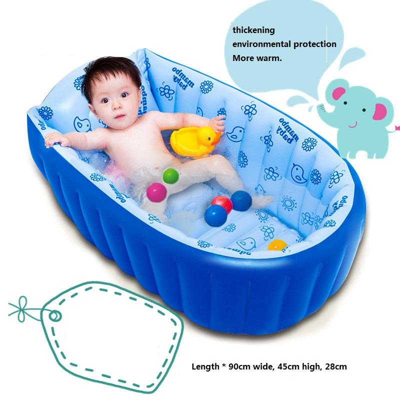 2018 Infantile Swimming Pool Folding Baby Tub Inflatable Pool ...