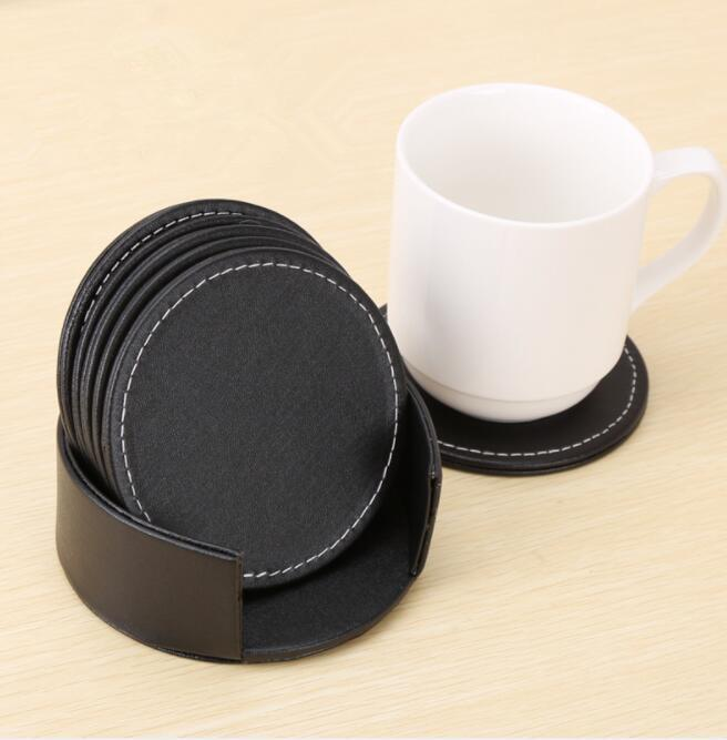 Leather Table Mats For Cup Glass PU Cup Mats Heat Resistant Table Cup  Coffee Drink Coasters Placemat Kitchen Accessories KKA5603 Cup Mat Table Mat  Placemat ...