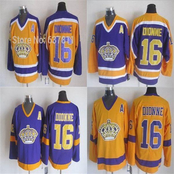 360aa824 best los angeles kings 1967 vintage throwback jersey ccm gold 16 marcel  dionne jersey stittched la