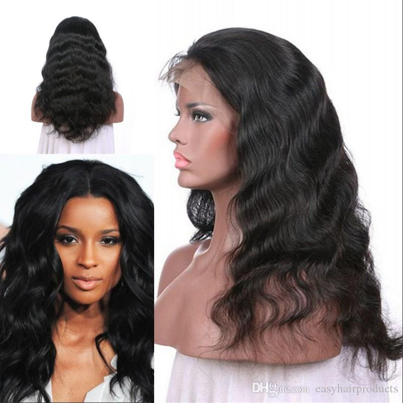 Full Lace Wig 130% Density Body Wave Human Hair Lace Front Wigs For Women  Top Grade G EASY 100 Human Hair Remy Best Quality Human Hair From  Easyhairproducts ... edf23c13e