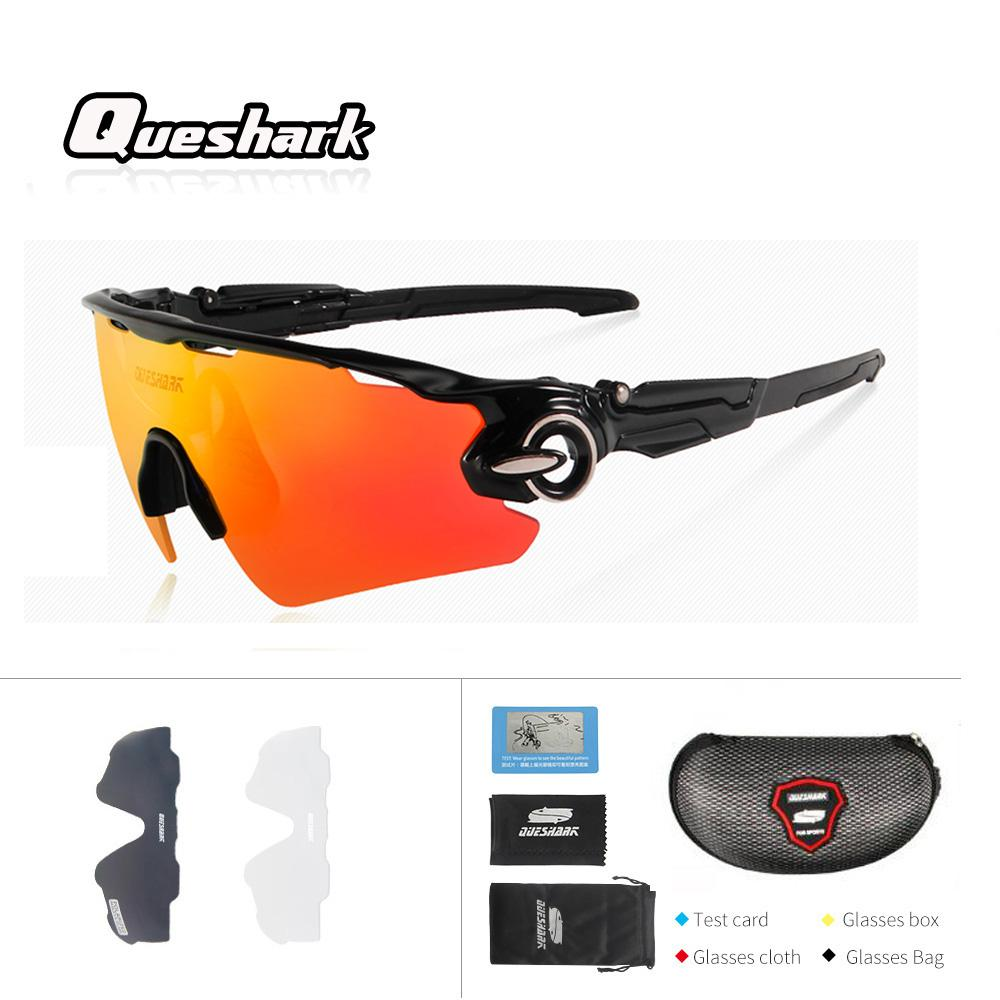 9bab418102 Queshark Professional Polarized Cycling Glasses UV400 Sport Sunglasses  Mountain Bike Goggles Racing Road MTB Bicycle Eyewear UK 2019 From  Hongmihoutao